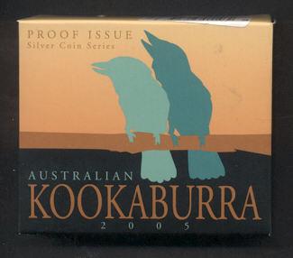 Thumbnail for 2005 Australian Half oz Coloured Square Kookaburra Proof