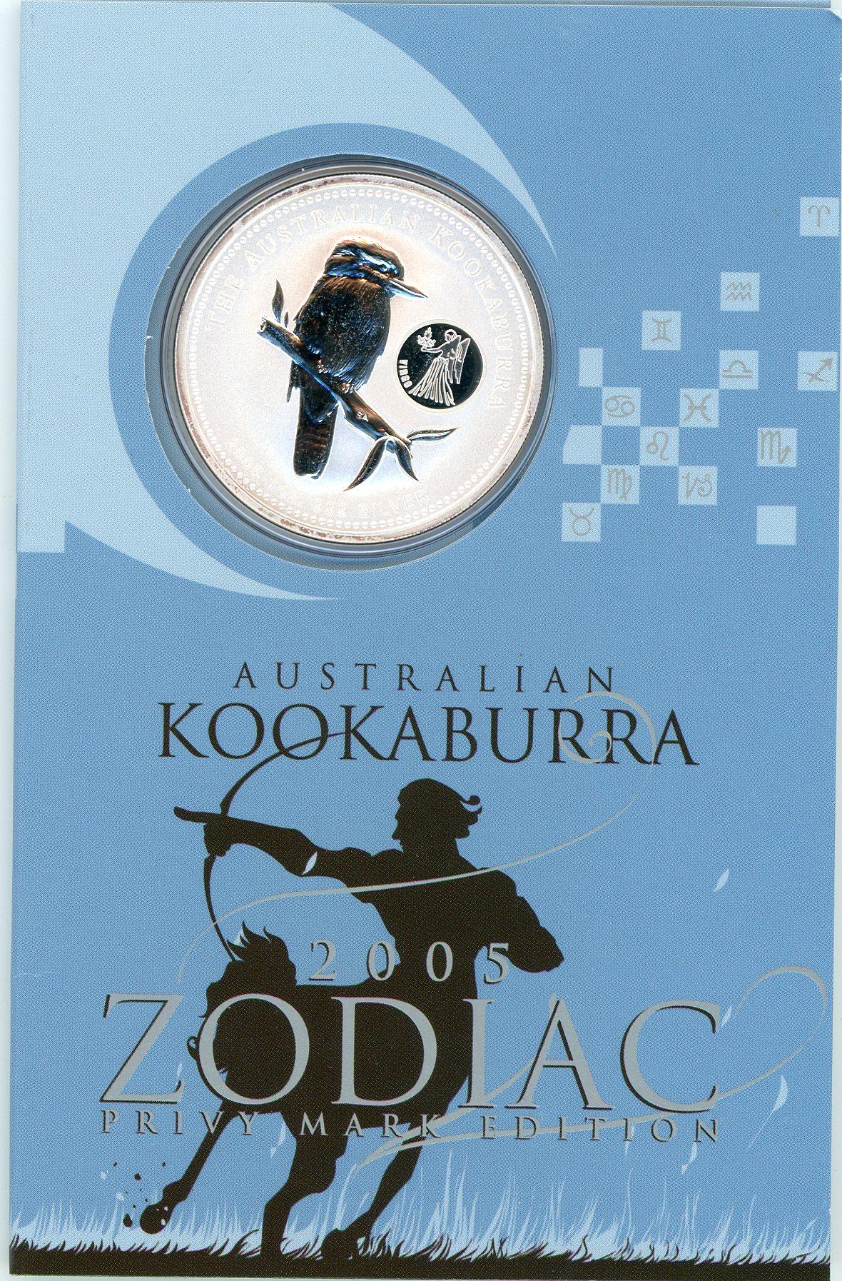 Thumbnail for 2005 1oz Kookaburra with Virgo Privy Mark
