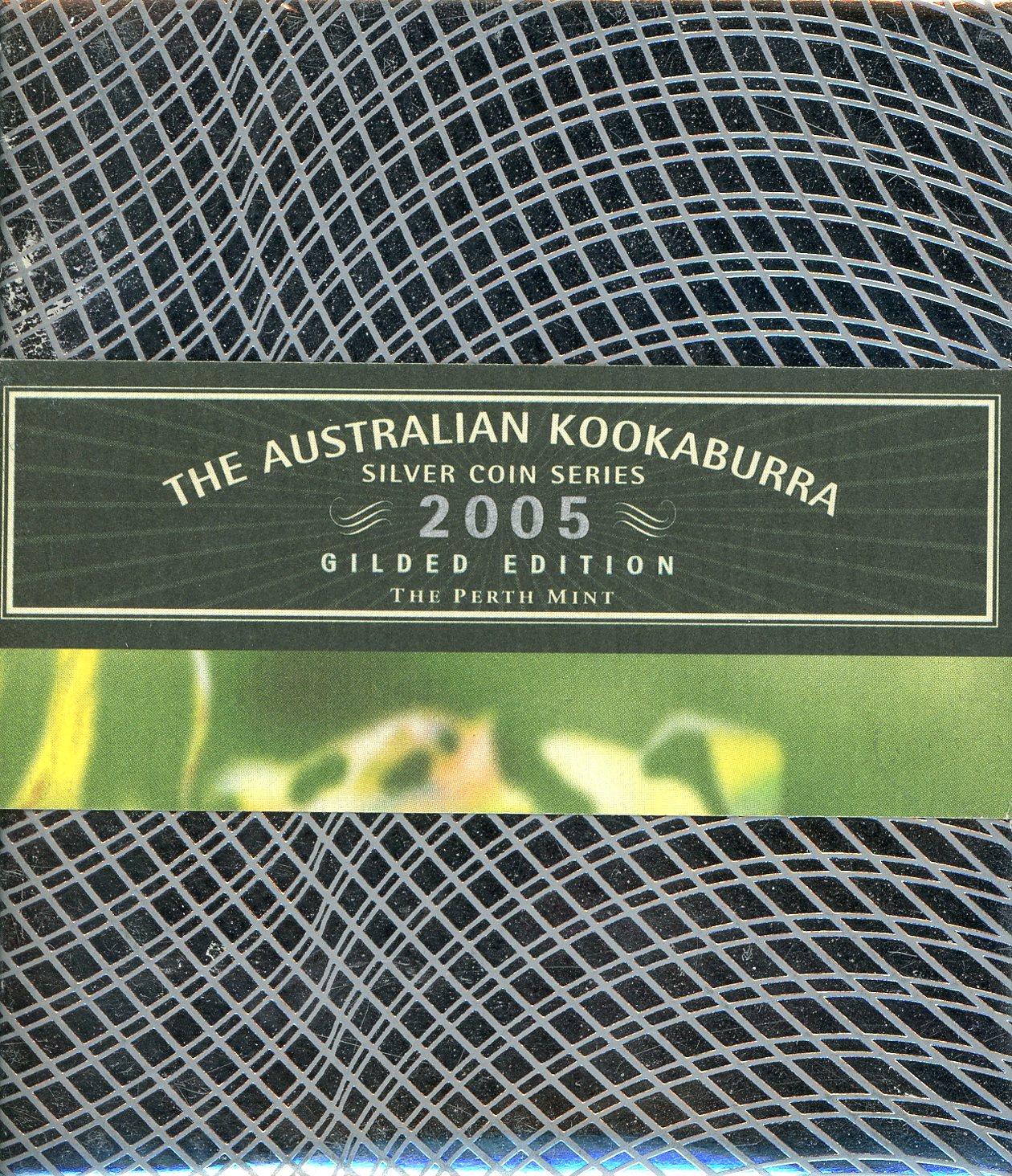 Thumbnail for 2005 Australian 1oz Silver Gilded Kookaburra