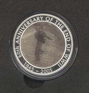 Thumbnail for 2005 60th Anniversary of the end of World War II 1oz Silver Proof with Moving Image