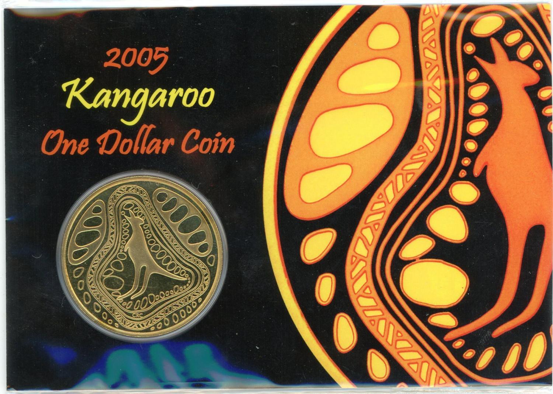 Thumbnail for 2005 Kangaroo $1.00 on Card