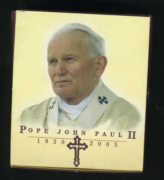 Thumbnail for 2005 Pope John Paul II Coloured 1oz Silver Proof Coin