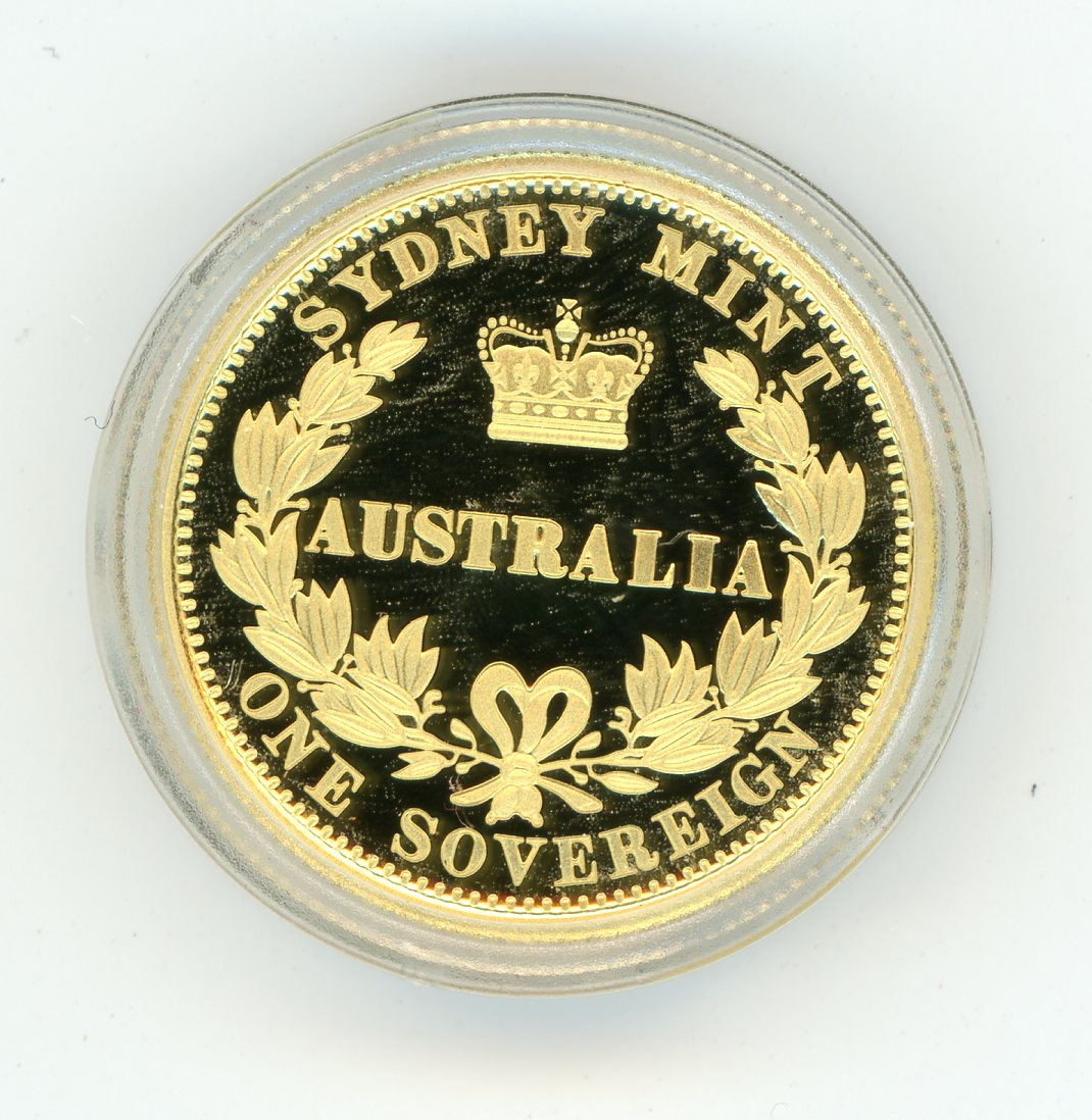 Thumbnail for 2005 Australian Perth Mint Proof Gold Sovereign in Capsule only