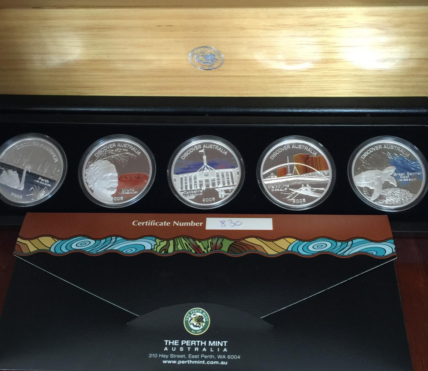 Thumbnail for 2006 1oz Silver Proof Five Coin Set - Discover Australia