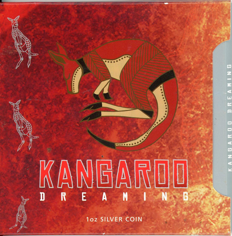 Thumbnail for 2008 1oz Silver Rectangle Coin - Kangaroo Dreaming