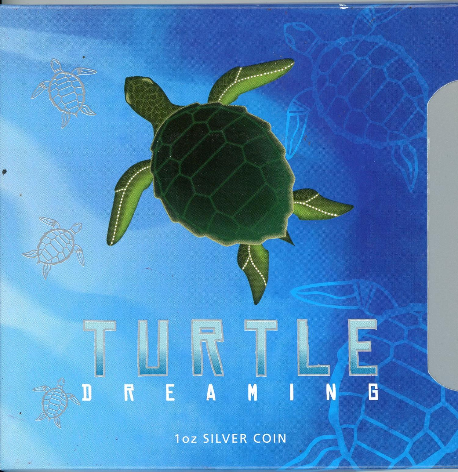 Thumbnail for 2008 1oz Silver Rectangle Coin - Turtle Dreaming