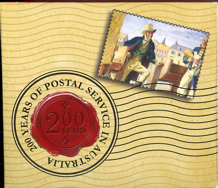 Thumbnail for 2008 Two Hundred Years of Postal Service In Australia 1oz Coloured Silver Proof