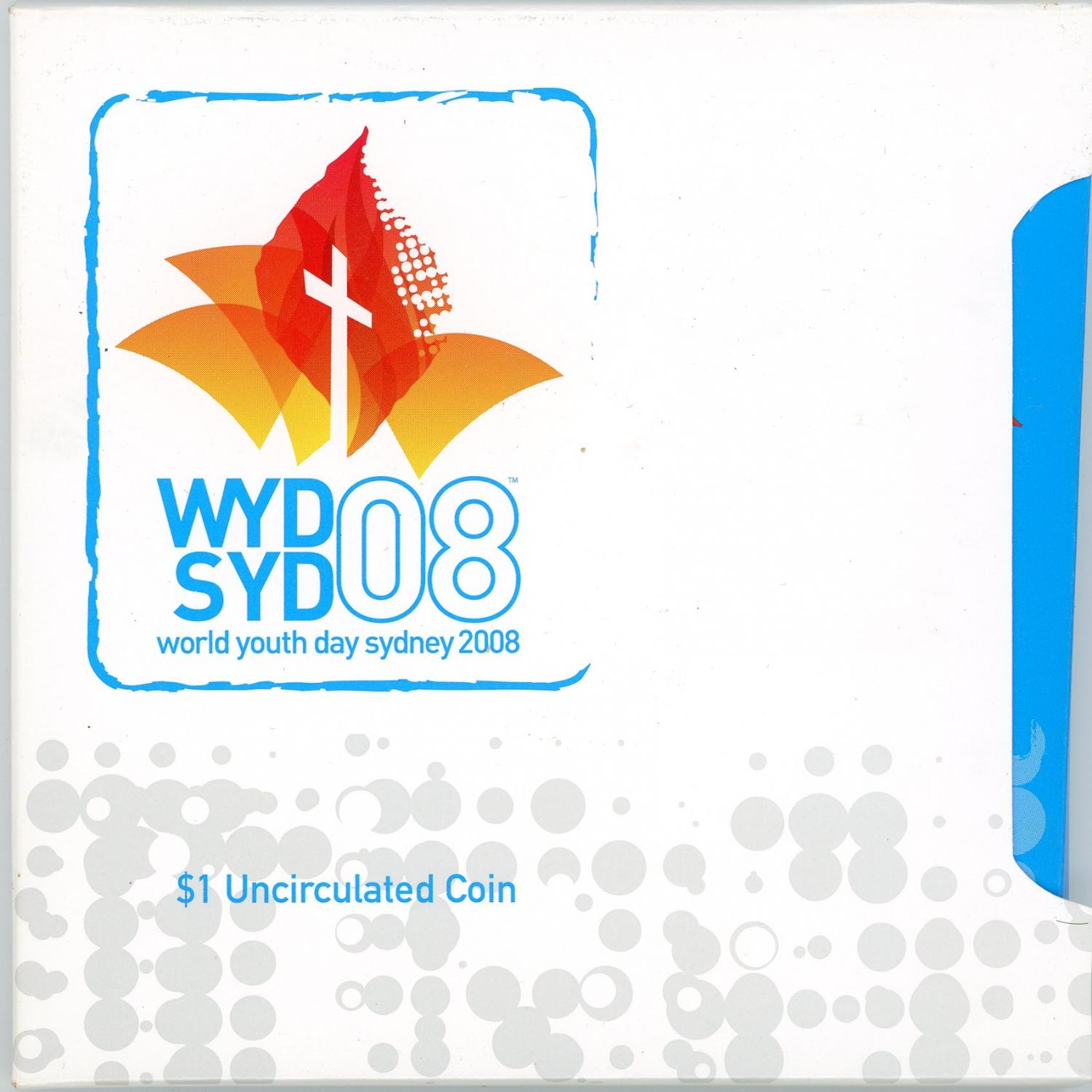 Thumbnail for 2008 $1 Uncirculated Coin - World Youth Day Sydney