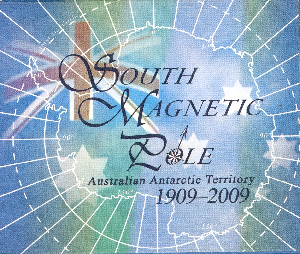 Thumbnail for 2009 1oz Coloured Silver Proof - Australian Antarctic Territory South Magnetic Pole