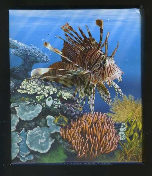 Thumbnail for 2009 Australian Sea Life Half oz Coloured Silver Proof - Lionfish