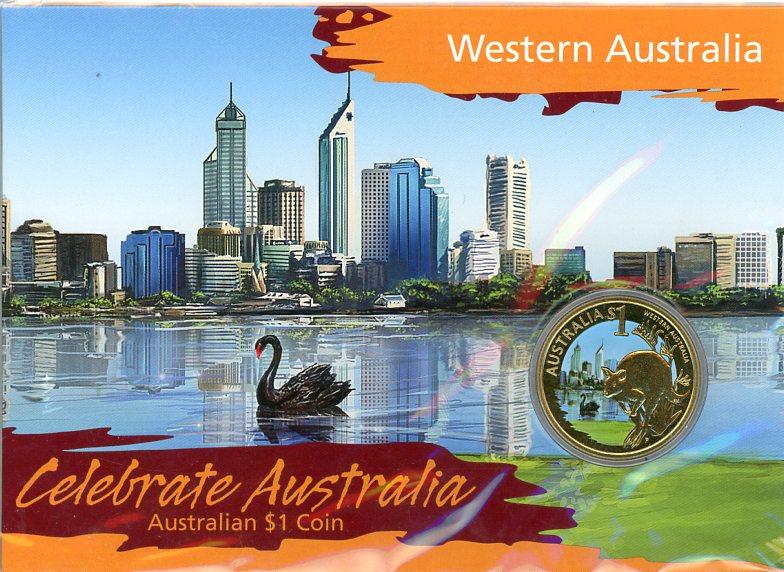 Thumbnail for 2009 Celebrate Australia Coloured Uncirculated $1 Coin - Western Australia