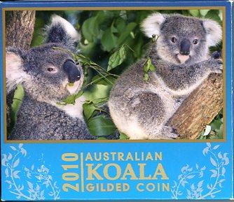 Thumbnail for 2010 1oz Silver Gilded Koala