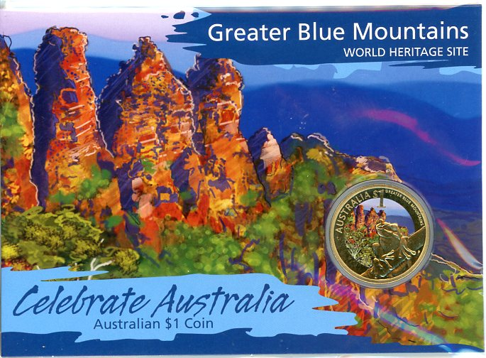 Thumbnail for 2010 Celebrate Australia Coloured Uncirculated $1 - Greater Blue Mountains