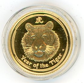 Thumbnail for 2010 One Tenth oz Gold Proof Coin - Year of the Tiger