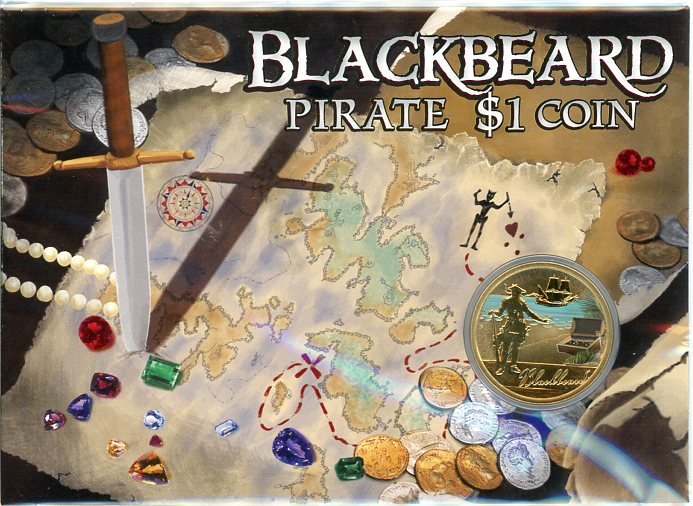 Thumbnail for 2010 Pirate Coloured $1 Uncirculated Coin - Blackbeard