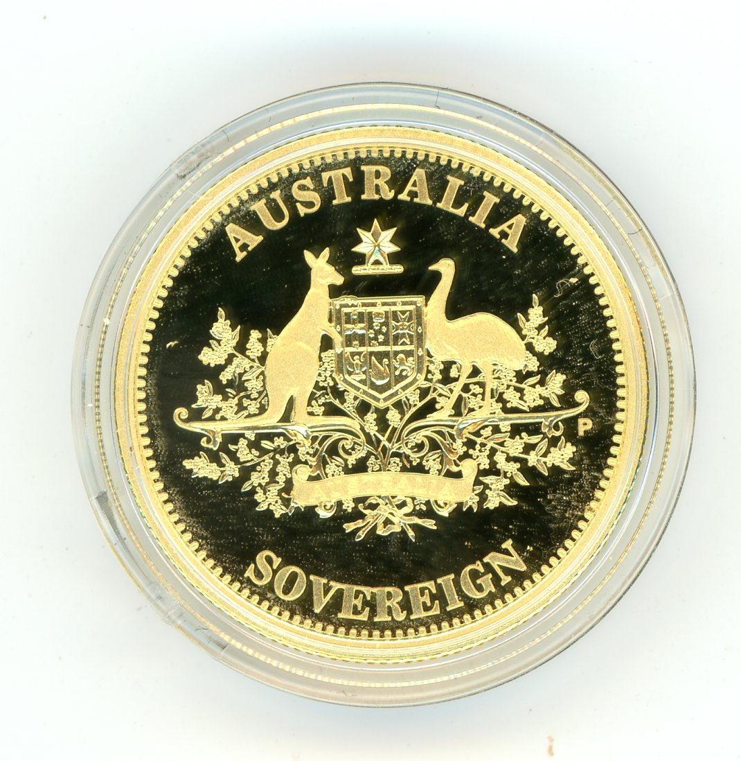 Thumbnail for 2010 Australian Perth Mint Proof Gold Sovereign in Capsule only