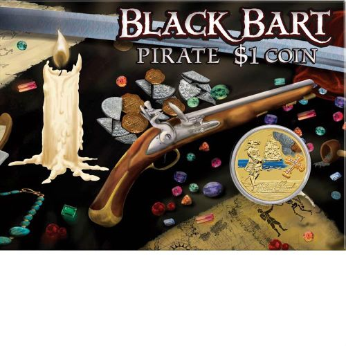 Thumbnail for 2011 Pirate Coloured $1 Uncirculated Coin - Black Bart