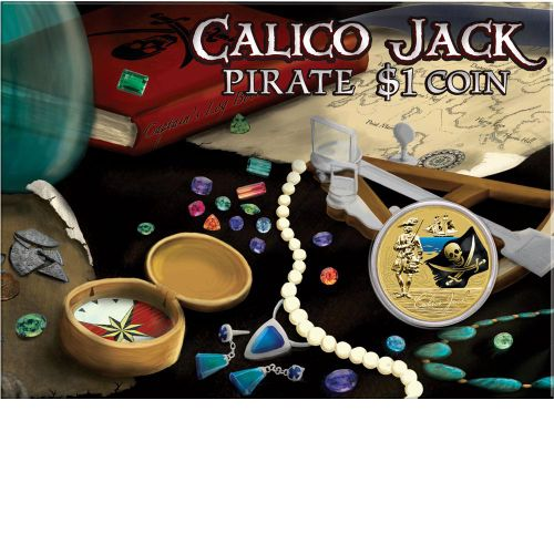 Thumbnail for 2011 Pirate Coloured $1 Uncirculated Coin - Calico Jack