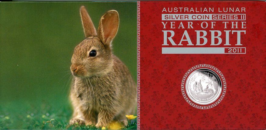 Thumbnail for 2011 Australian Lunar Series II Year of the Rabbit 3 Coin Proof Set