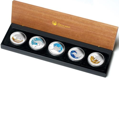 Thumbnail for 2011 Discover Australia 5 x 1oz Coloured Silver Proof Set