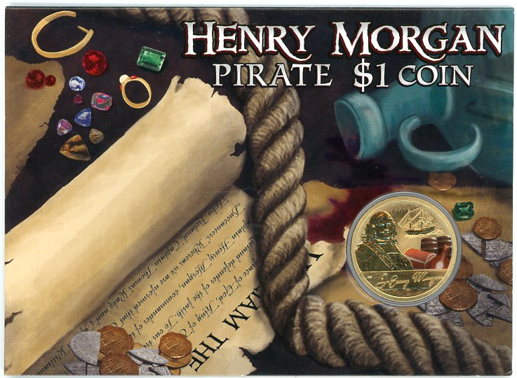 Thumbnail for 2011 Pirate Coloured $1 Uncirculated Coin - Henry Morgan