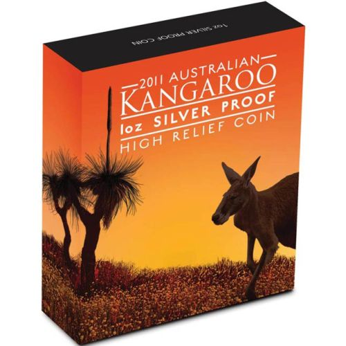 Thumbnail for 2011 1oz Silver Kangaroo High Relief Coin