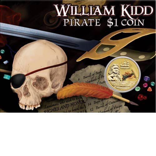Thumbnail for 2011 Pirate Coloured $1 Uncirculated Coin - William Kidd