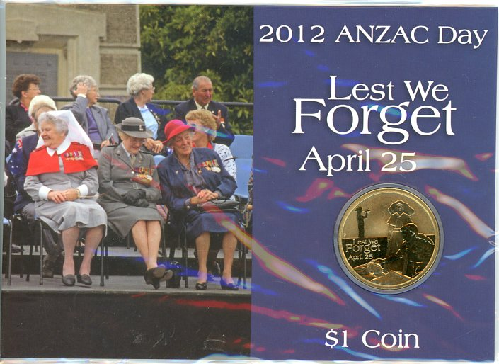 Thumbnail for 2012 Anzac Day Lest We Forget $1.00
