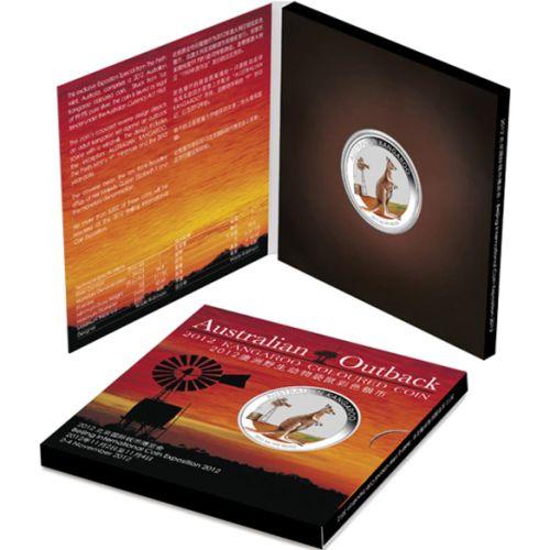 Thumbnail for 2012 Australian 1oz Coloured Silver Kangaroo - Beijing Coin Expo