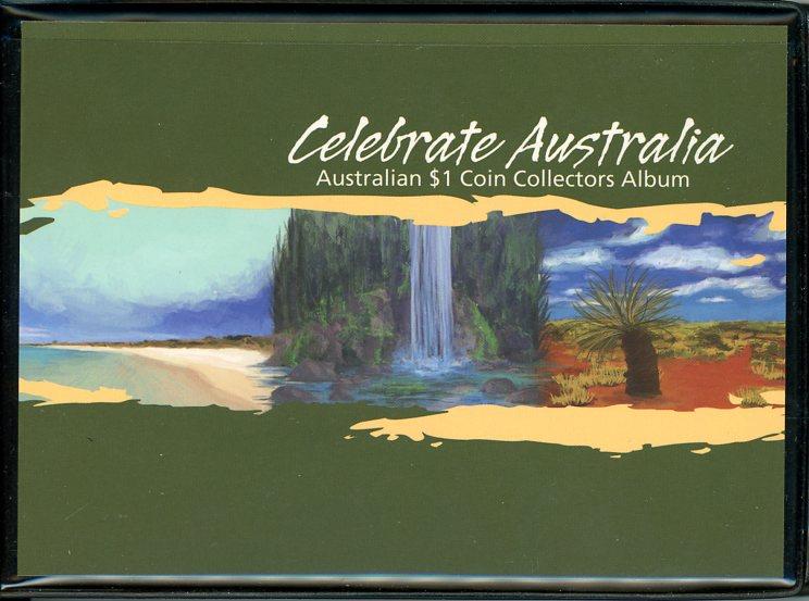 Thumbnail for 2012 Celebrate Australia Set of 5 Coloured $1 Coins in Album