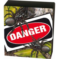 Thumbnail for 2012 1oz Coloured Silver Proof Deadly and Dangerous Funnel-Web Spider