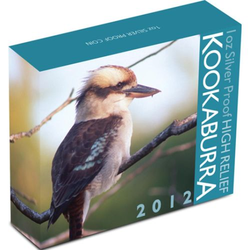 Thumbnail for 2012 1oz Silver Proof High Relief Kookaburra