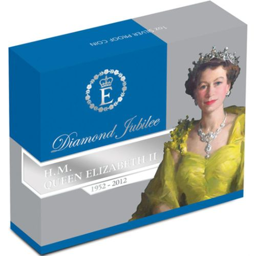 Thumbnail for 2012 1 oz Coloured Silver Proof Coin - Diamond Jubilee HM Queen Elizabeth II