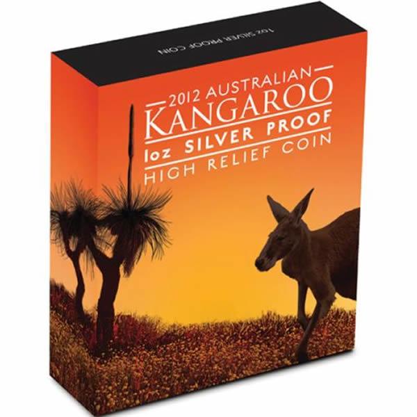 Thumbnail for 2012 1oz Silver Kangaroo High Relief