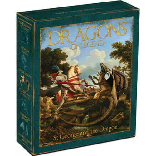 Thumbnail for 2012 Tuvalu Coloured 1oz Silver Proof Dragons of Legend - St George and the Dragon