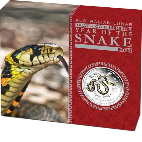 Thumbnail for 2013 Australian Coloured 1oz Silver Proof Coin - Year of the Snake