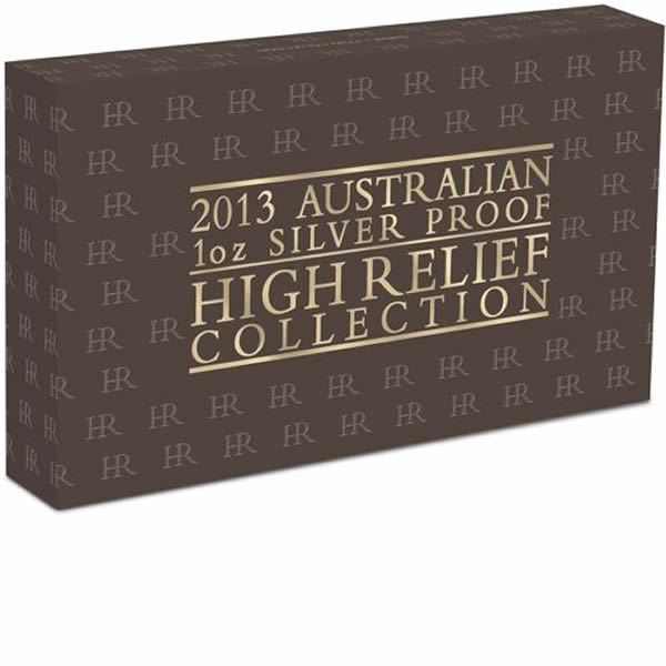 Thumbnail for 2013 Australian High Relief Silver Proof Three Coin Collection