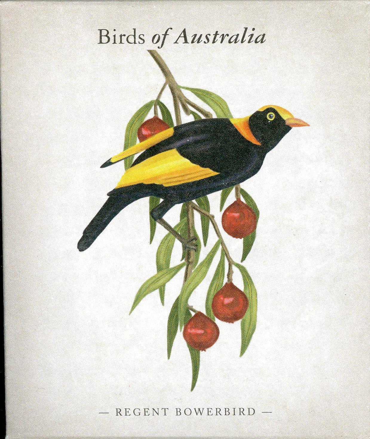 Thumbnail for 2013 Australian Half oz Coloured Silver Proof Birds of Australia - Regent Bowerbird