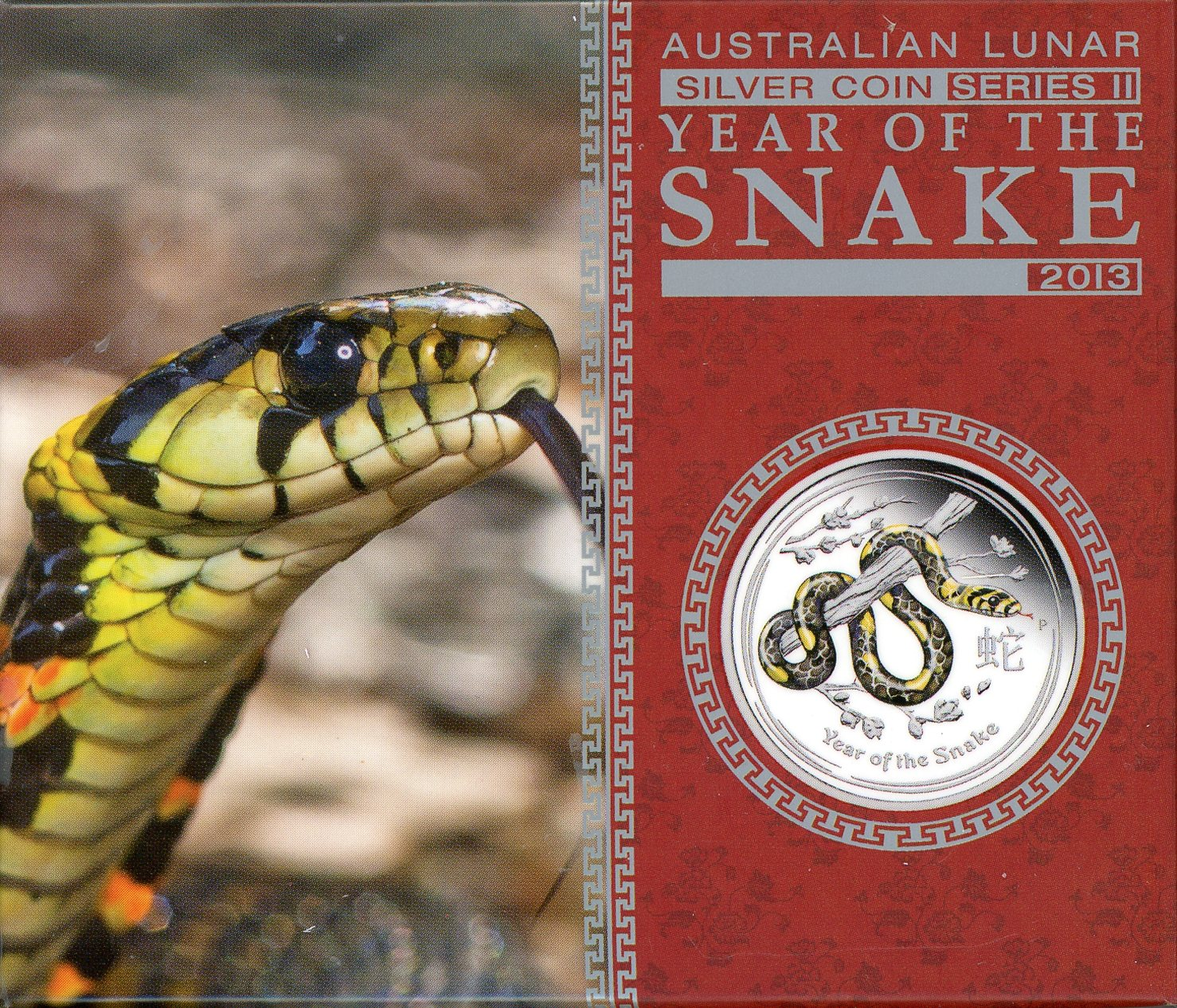 Thumbnail for 2013 Australian Half oz Coloured Silver Proof - Year of the Snake