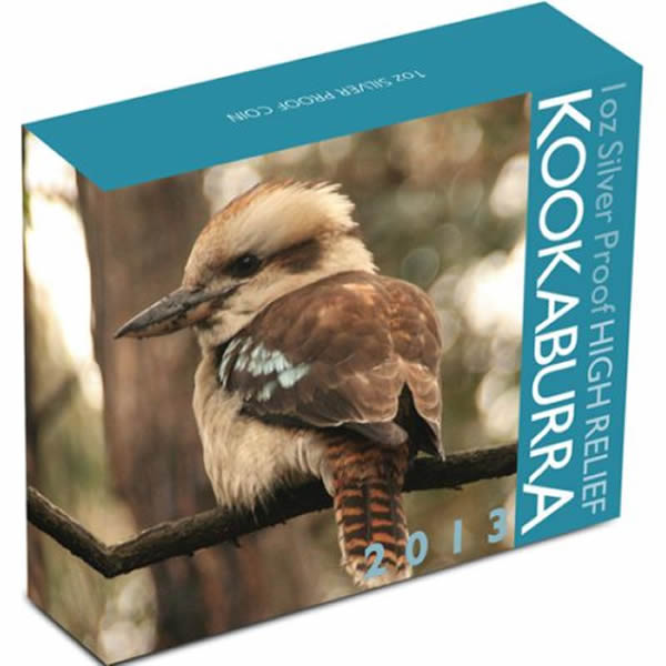 Thumbnail for 2013 1oz Silver High Relief Kookaburra Proof