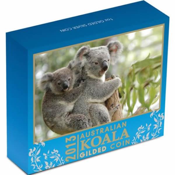Thumbnail for 2013 1oz Silver Gilded Koala