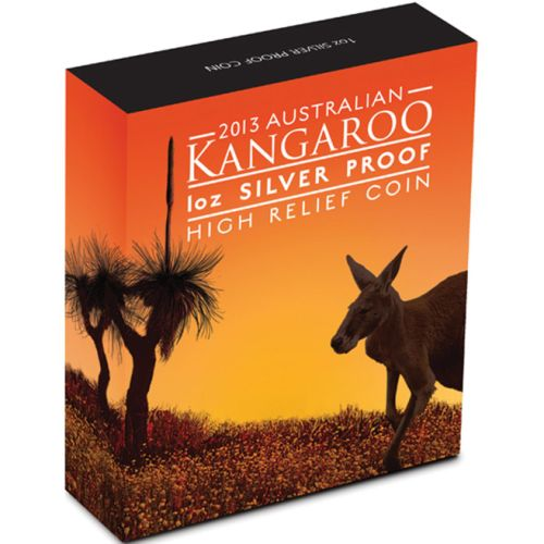 Thumbnail for 2013 1oz Silver Kangaroo High Relief Coin