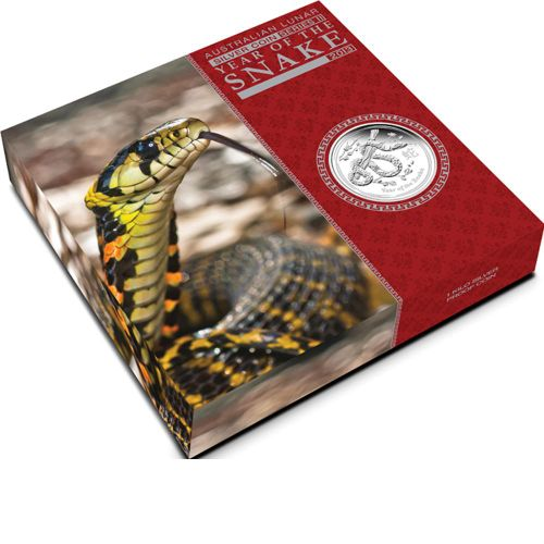 Thumbnail for 2013 Australian 1oz Silver Proof Coin - Year of the Snake
