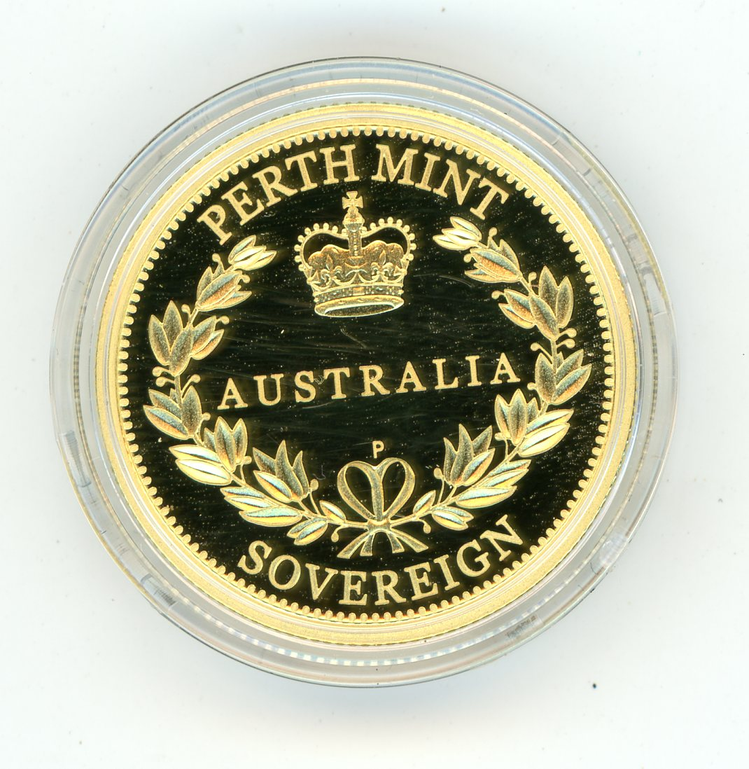 Thumbnail for 2013 Australian Perth Mint Proof Gold Sovereign in Capsule only