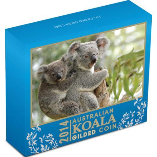 Thumbnail for 2014  1oz Silver Gilded Koala