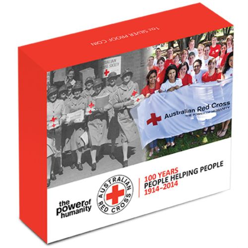 Thumbnail for 2014 1oz Coloured Silver Proof - 100 Years of Australian Red Cross