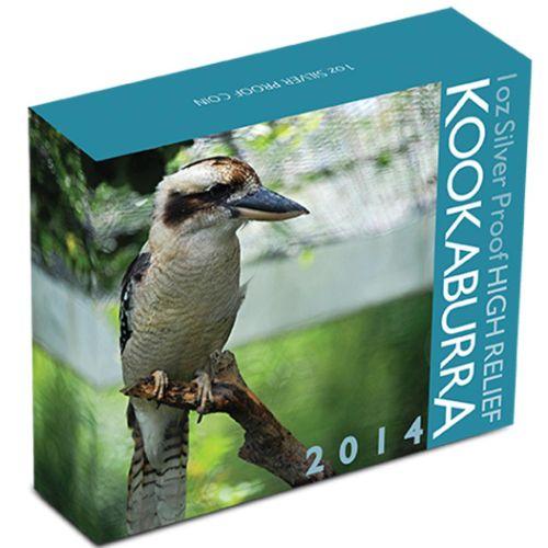 Thumbnail for 2014 1oz Silver High Relief Kookaburra