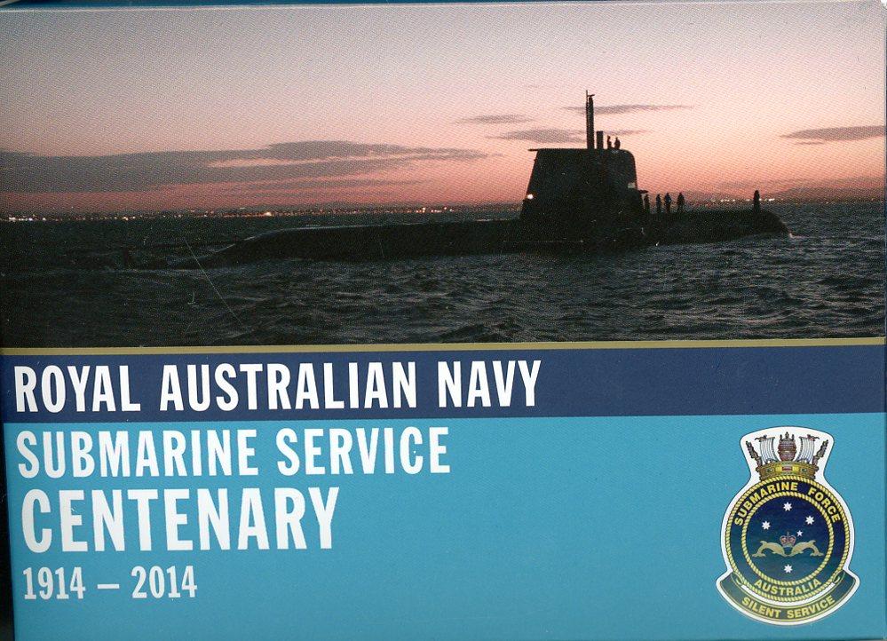 Thumbnail for 2014 Royal Australian Navy Submarine Service Centenary 1oz Coloured Silver Proof