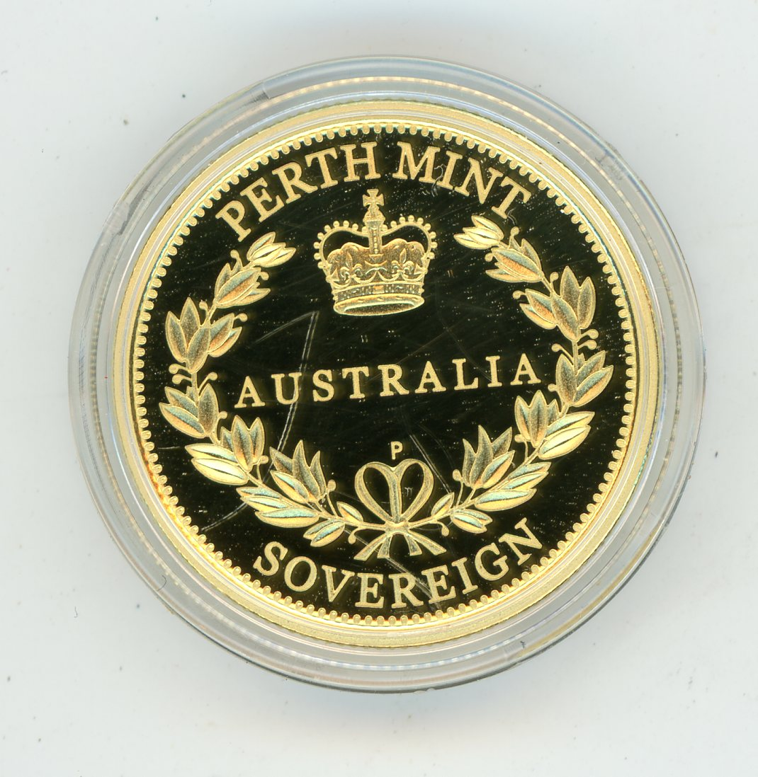 Thumbnail for 2014 Australian Perth Mint Proof Gold Sovereign in Capsule only