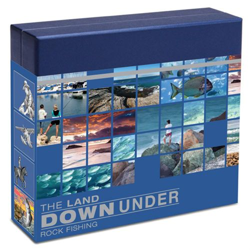 Thumbnail for 2014 The Land Down Under 1oz Coloured Silver Proof - Rock Fishing